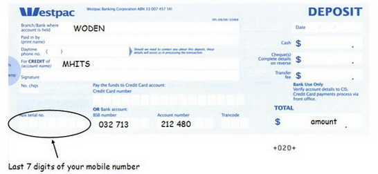 how to deposit bank cheque westpac